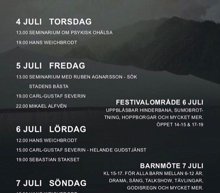 Program för Tältmötena 3-7 juli, Det finns hopp!