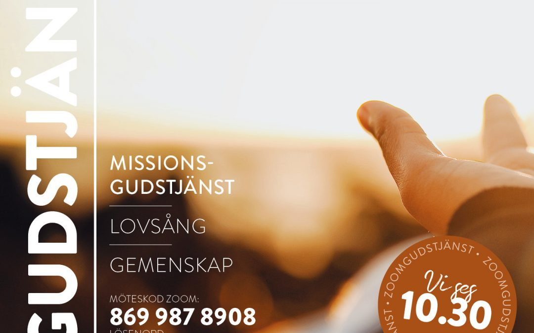 Missionsgudstjänst via Zoom 14 mars